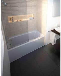 Bathtub Architec with Integrated Panel and Flange