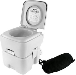 SereneLife Toilet Porta Potty Seat Portable