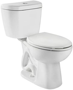 Toilet with Round Bowl and Tank Combo