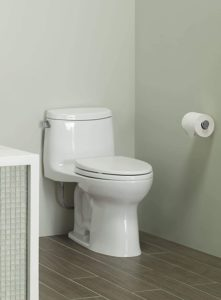 Universal Height Toilet with CEFIONTECT Cotton White